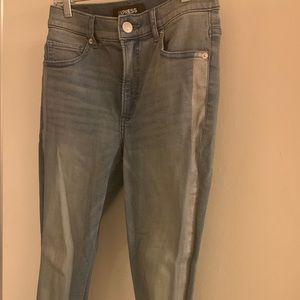 NWOT EXPRESS legging jeans with silver stripe.